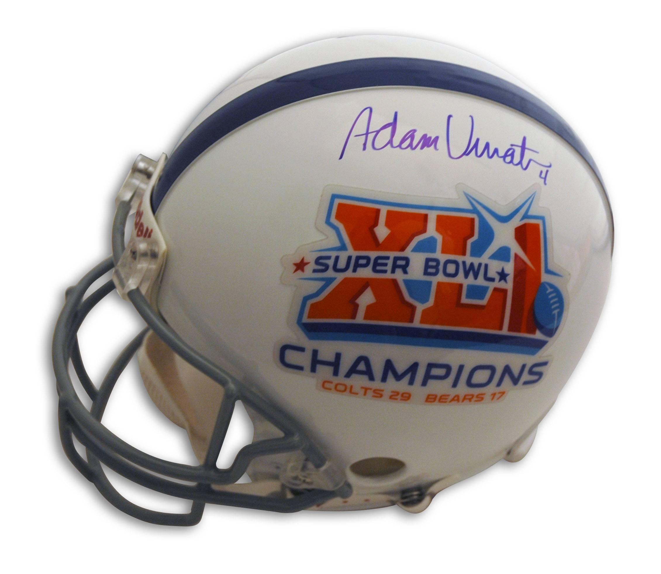 aa9cd1fbc62 Adam Vinatieri Indianapolis Colts Super Bowl XLI Autographed Proline Helmet